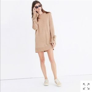 Madewell tie cuff sweater dress XS